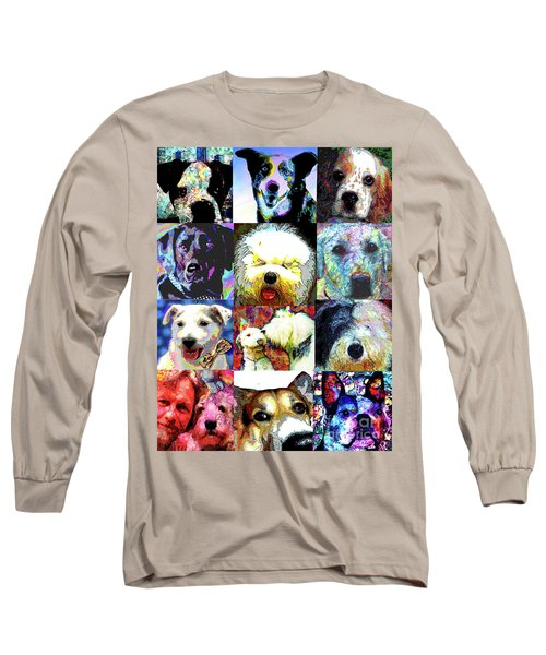 Pet Portraits Long Sleeve T-Shirt by Alene Sirott-Cope