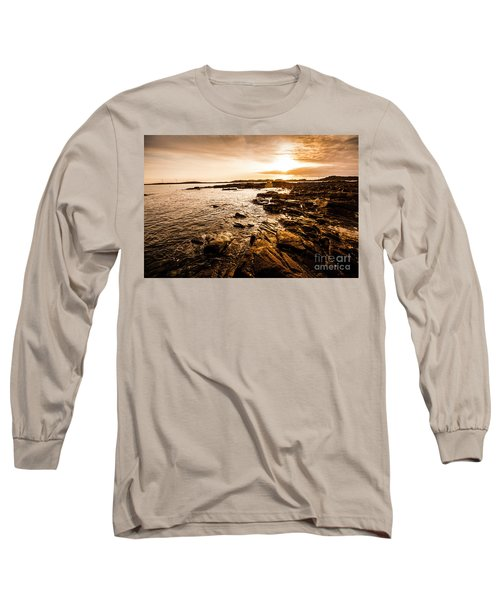 Petal Point Ocean Sunrise Long Sleeve T-Shirt
