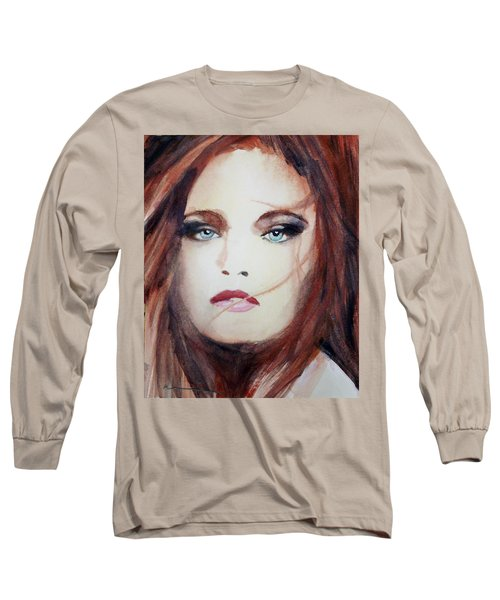 Long Sleeve T-Shirt featuring the painting Petra by Ed Heaton