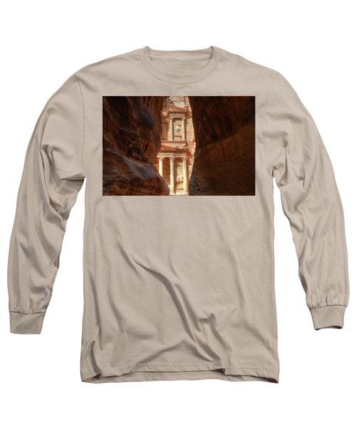Petra Treasury Revealed Long Sleeve T-Shirt