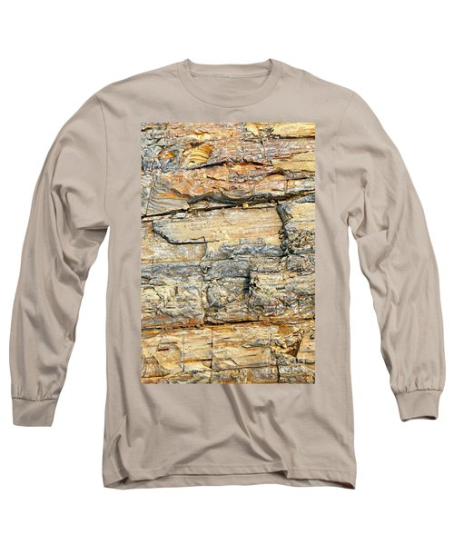 Petrified Wood Nature Abstract Long Sleeve T-Shirt