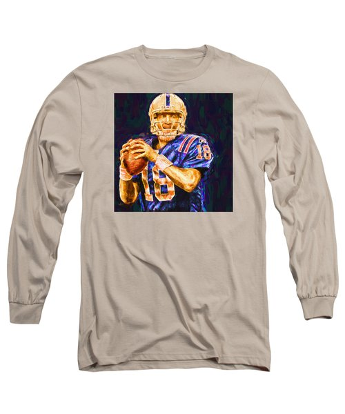 Peyton Manning Indianapolis Colts Nfl Football Painting Digital Long Sleeve T-Shirt