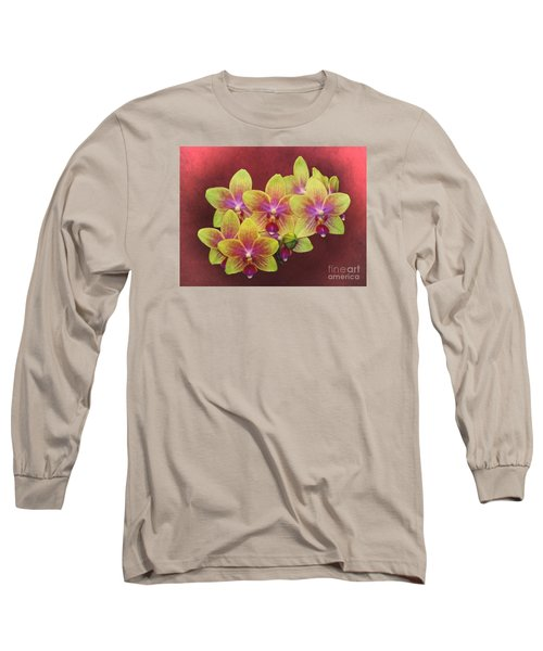 Phalaenopsis Orchid Flower Long Sleeve T-Shirt by Suzanne Handel