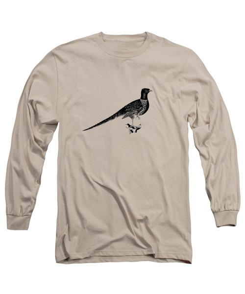 Pheasant Long Sleeve T-Shirt by Mark Rogan