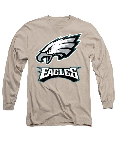 Philadelphia Eagles On An Abraded Steel Texture Long Sleeve T-Shirt