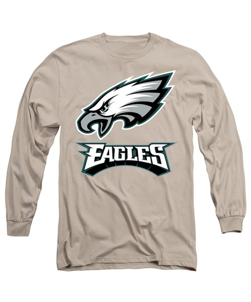 Philadelphia Eagles On An Abraded Steel Texture Long Sleeve T-Shirt