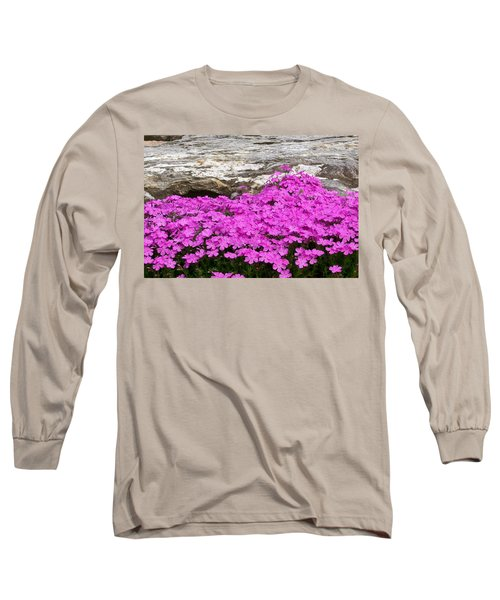 Long Sleeve T-Shirt featuring the digital art Phlox by Barbara S Nickerson