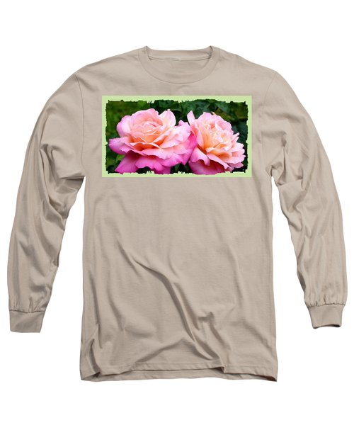 Long Sleeve T-Shirt featuring the photograph Photogenic Peace Roses by Will Borden