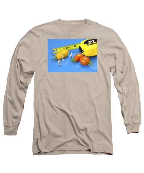 Long Sleeve T-Shirt featuring the photograph Photography Of Tomatoes Little People On Food by Paul Ge
