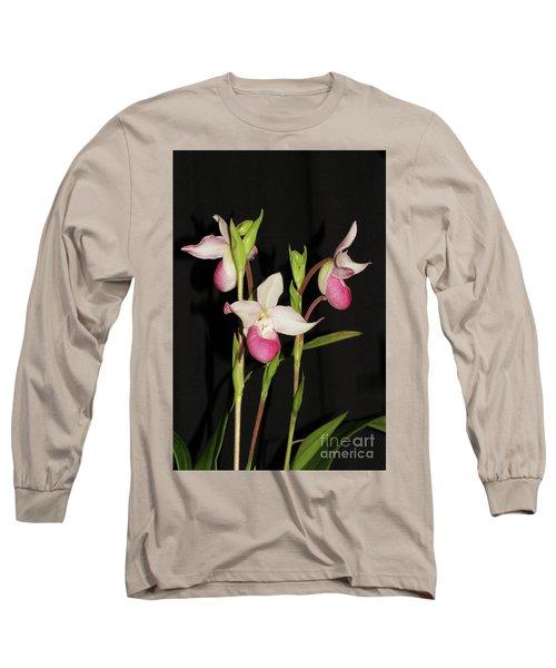 Phragmipedium Cardinale Wacousta Orchid Long Sleeve T-Shirt