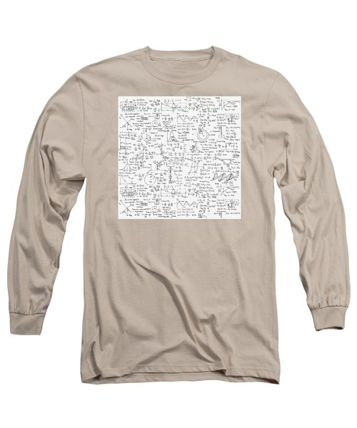 Long Sleeve T-Shirt featuring the drawing Physics Forms by Gina Dsgn