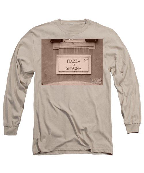 Piazza Di Spagna Long Sleeve T-Shirt