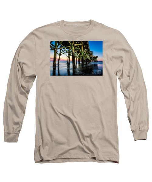 Pier Perspective Long Sleeve T-Shirt by David Smith