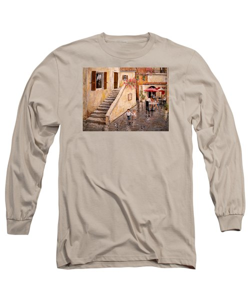 Pigeon Pigeon Pigeon Pie Long Sleeve T-Shirt by Alan Lakin