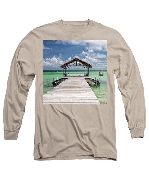 Pigeon Point, Tobago#pigeonpoint Long Sleeve T-Shirt by John Edwards