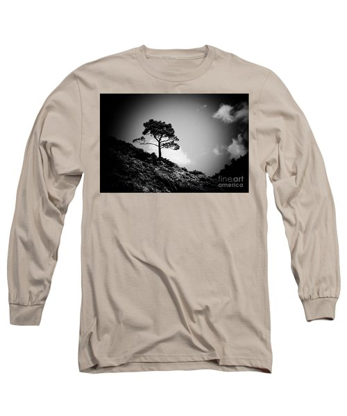Pine At Sky Background Artmif.lv Long Sleeve T-Shirt