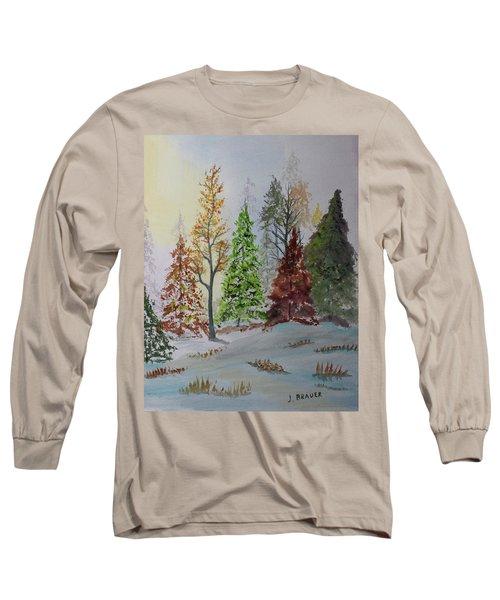 Pine Cove Long Sleeve T-Shirt by Jack G Brauer