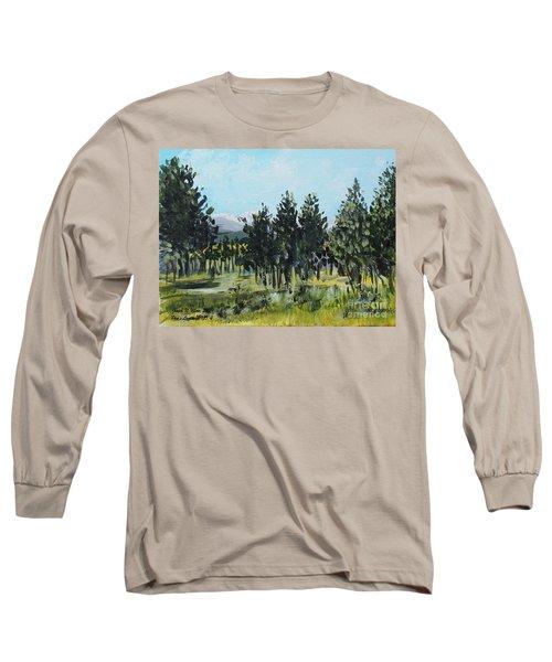 Pine Landscape No. 4 Long Sleeve T-Shirt