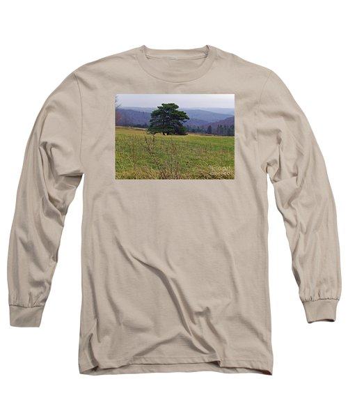 Pine On Sentry Long Sleeve T-Shirt by Christian Mattison
