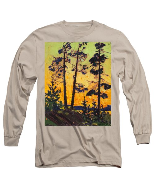 Pine Trees At Sunset Long Sleeve T-Shirt