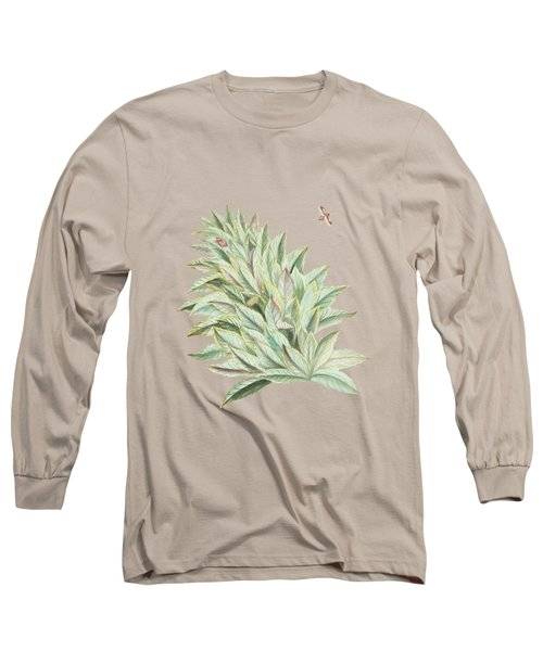 Pineapple Crown With Caterpillar And Butterfly By Cornelis Markee 1763 Long Sleeve T-Shirt