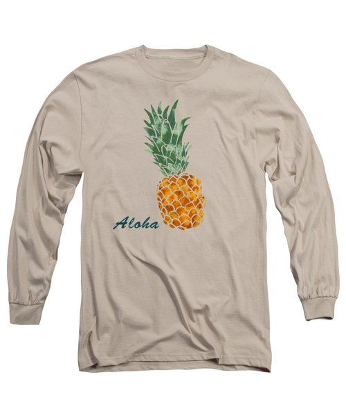 Pineapple Long Sleeve T-Shirt by Jirka Svetlik