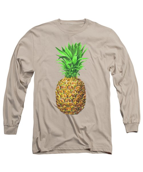 Pineapple, Tropical Fruit Long Sleeve T-Shirt by Katerina Kirilova