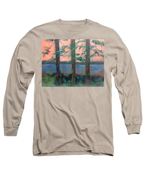 Pines At Dusk Long Sleeve T-Shirt