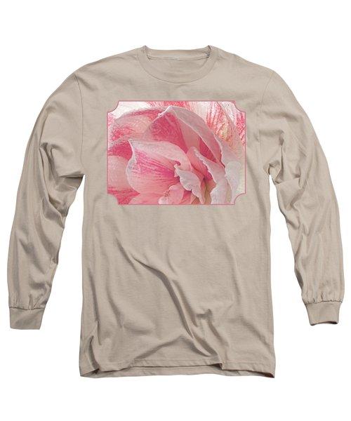 Pink Amaryllis Abstract Long Sleeve T-Shirt