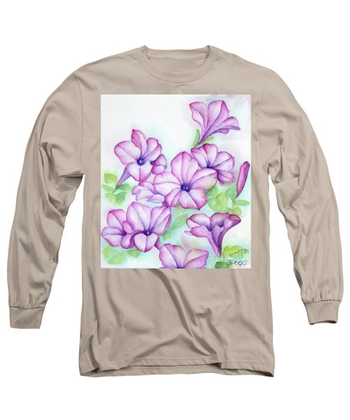 Pink And Purple Long Sleeve T-Shirt