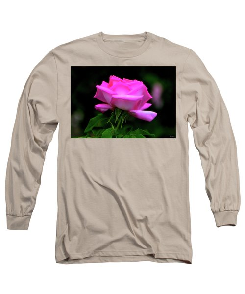 Long Sleeve T-Shirt featuring the photograph Pink And White Rose 005 by George Bostian