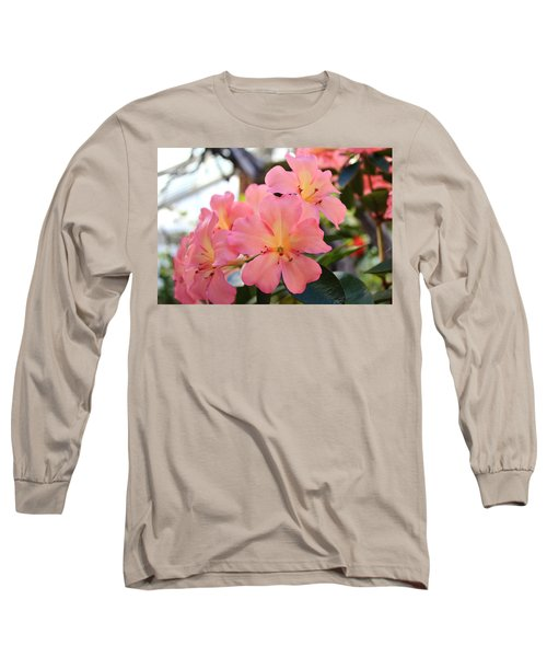 Pink And Yellow Vireya Long Sleeve T-Shirt