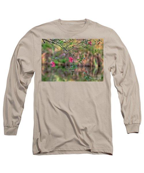 Long Sleeve T-Shirt featuring the photograph Pink Azalea Dream by Deborah Benoit