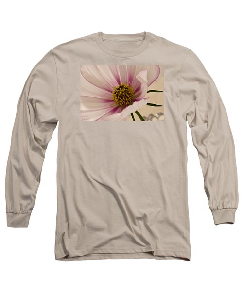 Pink Bi Color Cosmo Macro Long Sleeve T-Shirt by Sandra Foster