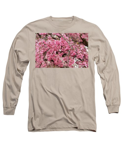 Pink Cherry Blossom Japan Arashayama Spring Holiday Diaries Long Sleeve T-Shirt