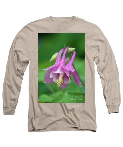 Long Sleeve T-Shirt featuring the photograph Pink Columbine - D010096 by Daniel Dempster