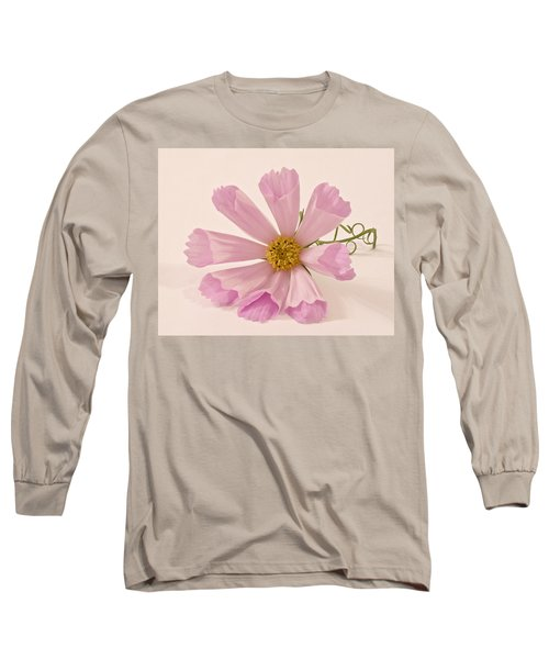 Pink Cosmo - Sea Shell Macro Long Sleeve T-Shirt by Sandra Foster