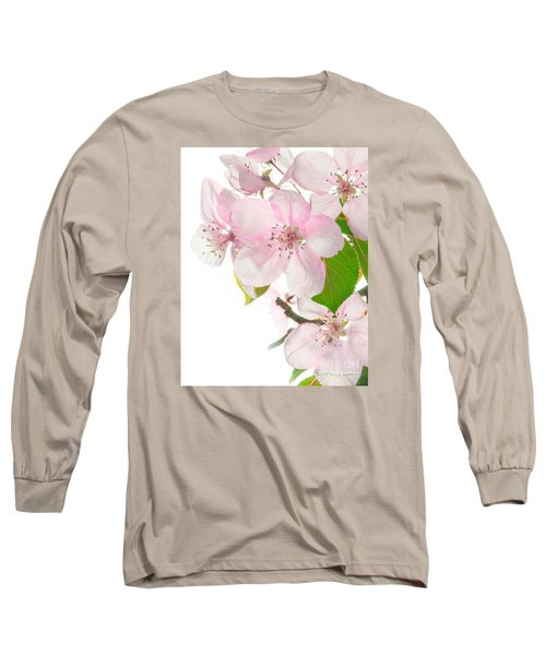 Pink Crabapple Blissoms Long Sleeve T-Shirt by David Perry Lawrence