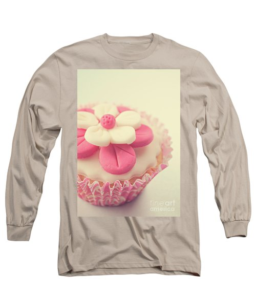 Long Sleeve T-Shirt featuring the photograph Pink Cupcake by Lyn Randle