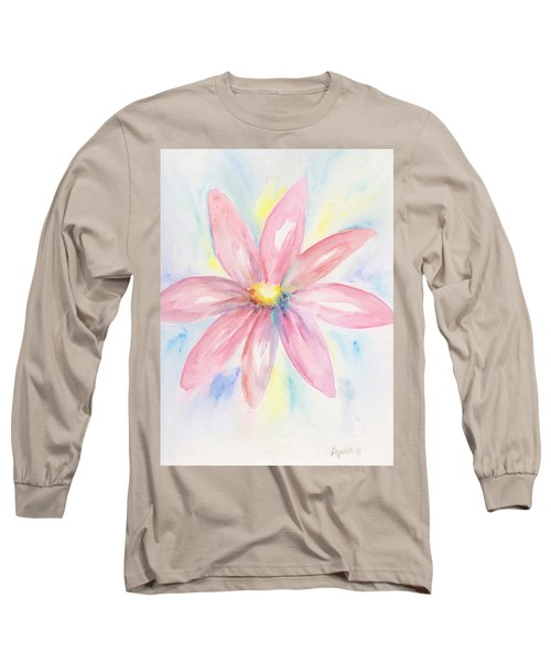 Pink Daisy Long Sleeve T-Shirt