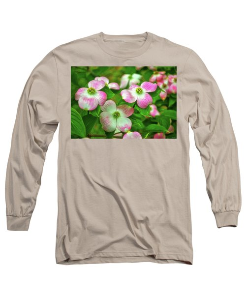 Pink Dogwoods 003 Long Sleeve T-Shirt by George Bostian