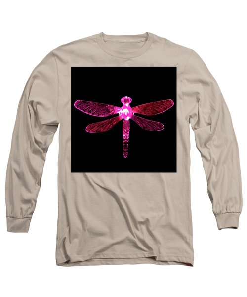 Pink Dragonfly Long Sleeve T-Shirt