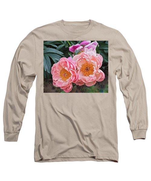 Pink Duo Peony Long Sleeve T-Shirt