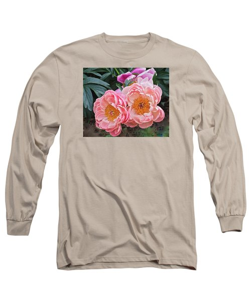 Pink Duo Peony Long Sleeve T-Shirt