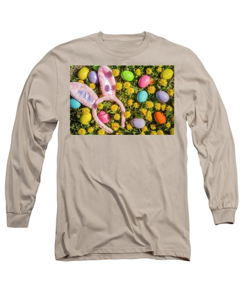 Long Sleeve T-Shirt featuring the photograph Pink Easter Bunny Ears by Teri Virbickis