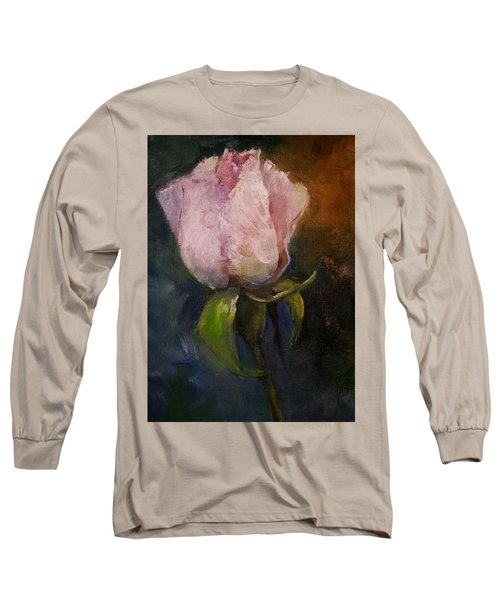 Pink Floral Bud Long Sleeve T-Shirt by Michele Carter