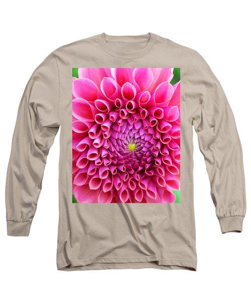 Pink Flower Close Up Long Sleeve T-Shirt