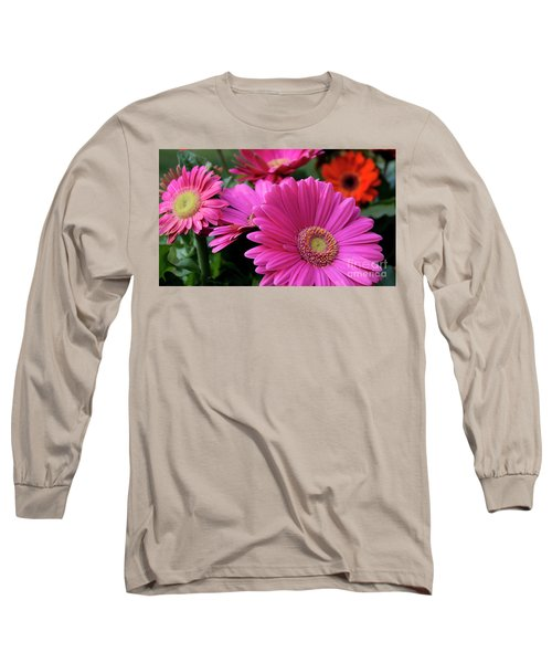 Pink Flowers Long Sleeve T-Shirt by Brian Jones