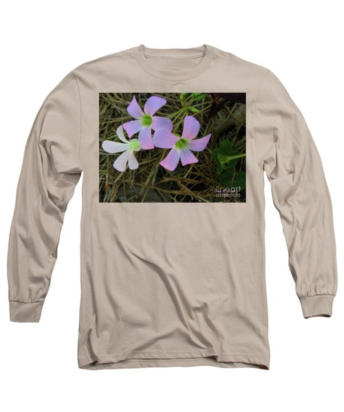 Long Sleeve T-Shirt featuring the photograph Pink Glow by Donna Brown
