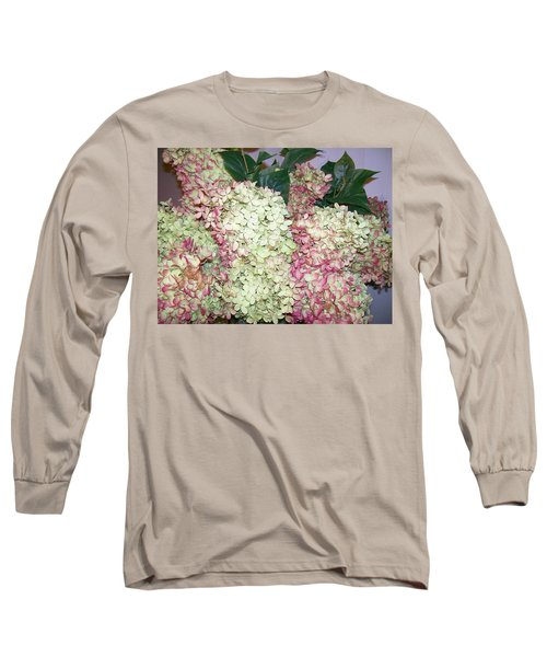 Long Sleeve T-Shirt featuring the digital art Pink Hydrangeas by Barbara S Nickerson